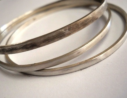 Bangles Bangle Set Bagles Sterling Silver Modern Bespoke Rustic Jewelry