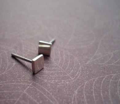 square studs - Free Shipping.