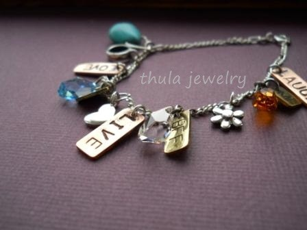 Mothers Day Gift Charm Bracelet Copper Br And Silver Personalized Customized
